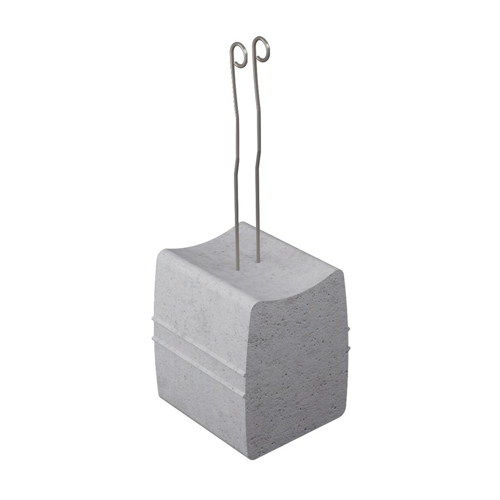 Beton-Abstandhalter mit Ösendraht