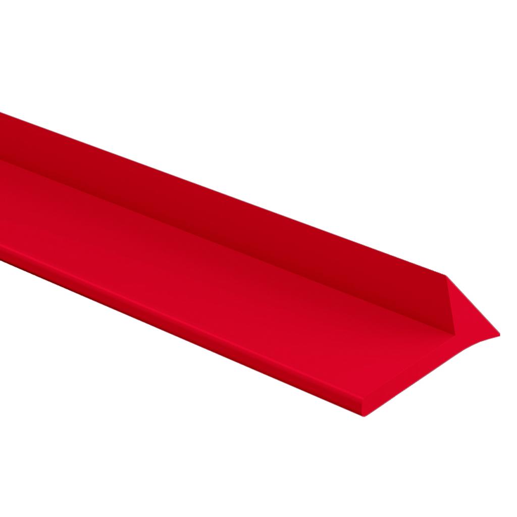 Eckleiste mit Fahne - aus PE -in rot