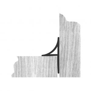 Eckleiste rund mit Nagelfahne (Hohlprofil) - Nutzung
