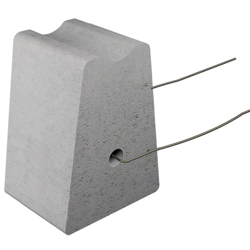 Beton-Abstandhalter mit Draht