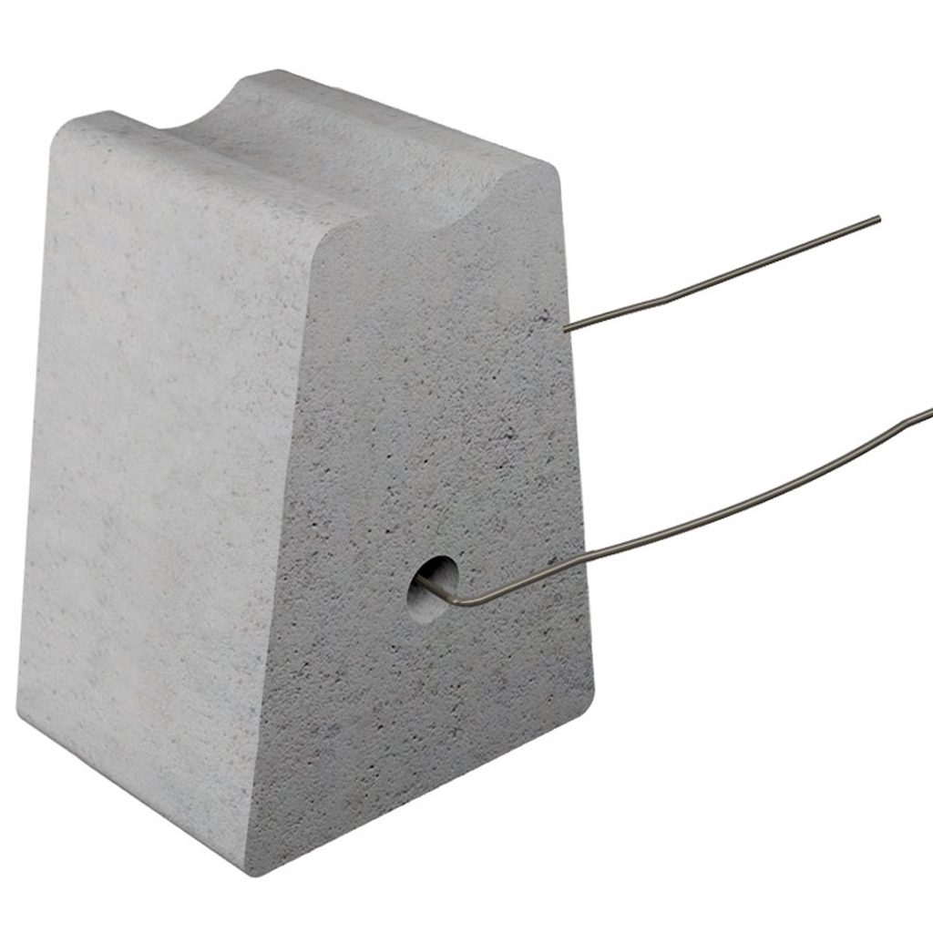 Concrete spacer – including wire