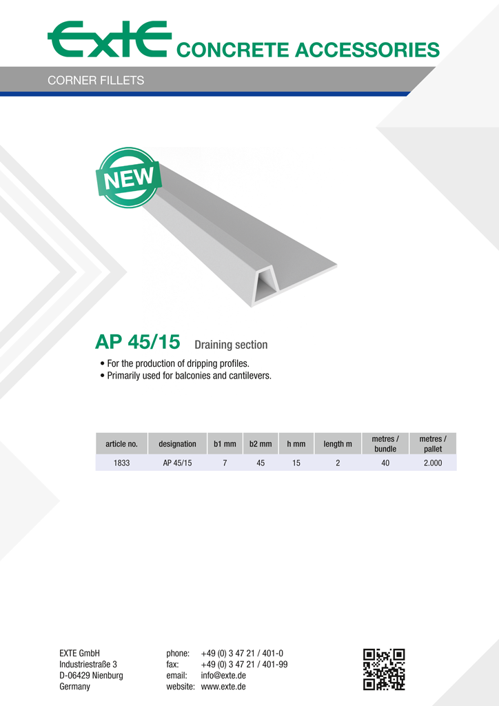 product sheet A4 - AP 45-15 - en