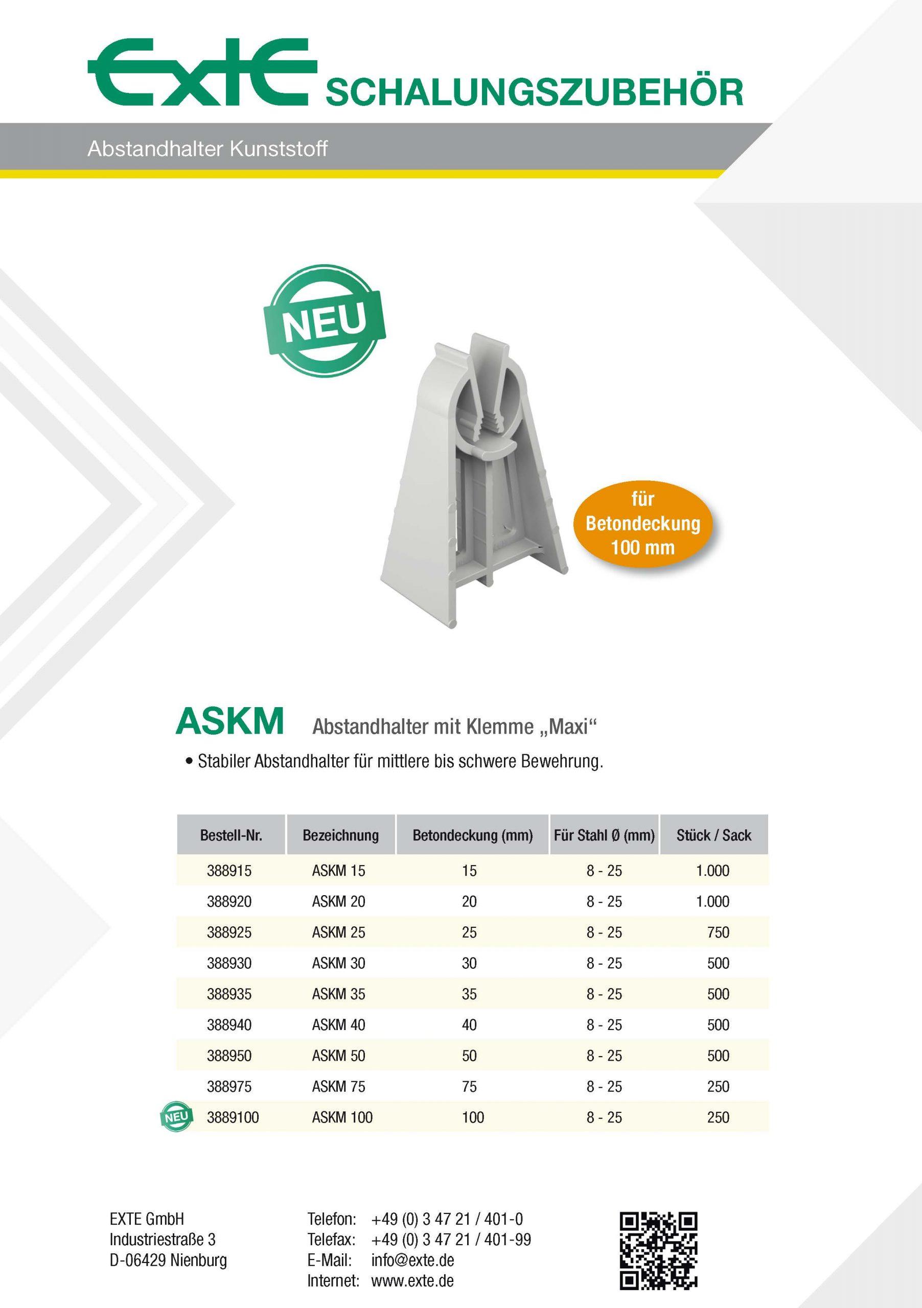 Produktblatt A4 - ASKM - dt