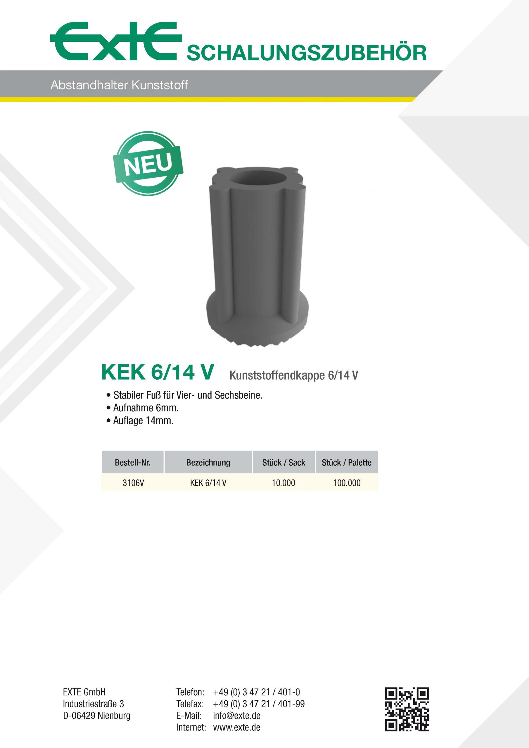 Produktblatt A4 - Kunststoff - KEK6_14V - dt