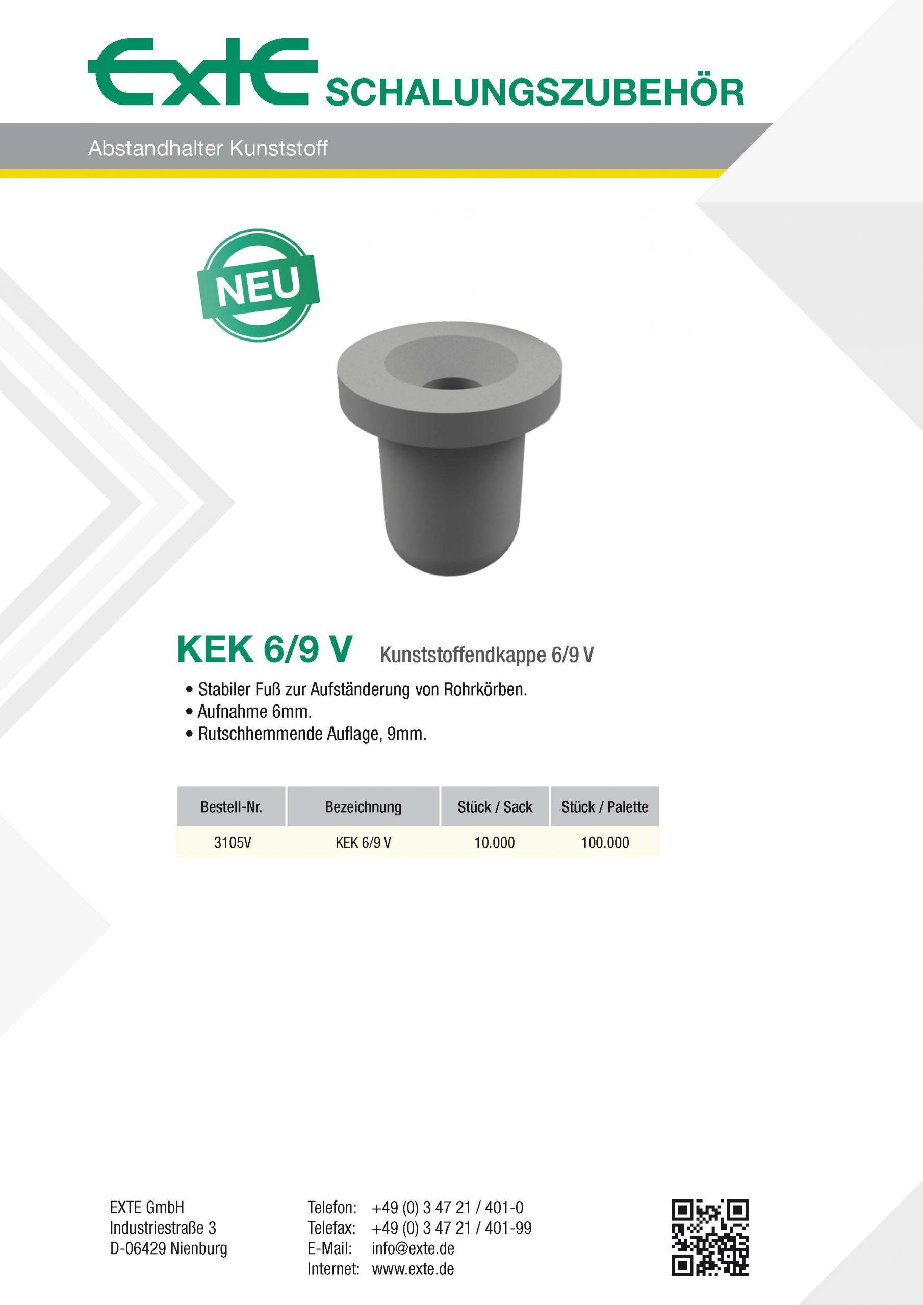 Produktblatt A4 - Kunststoff - KEK6_9V - dt