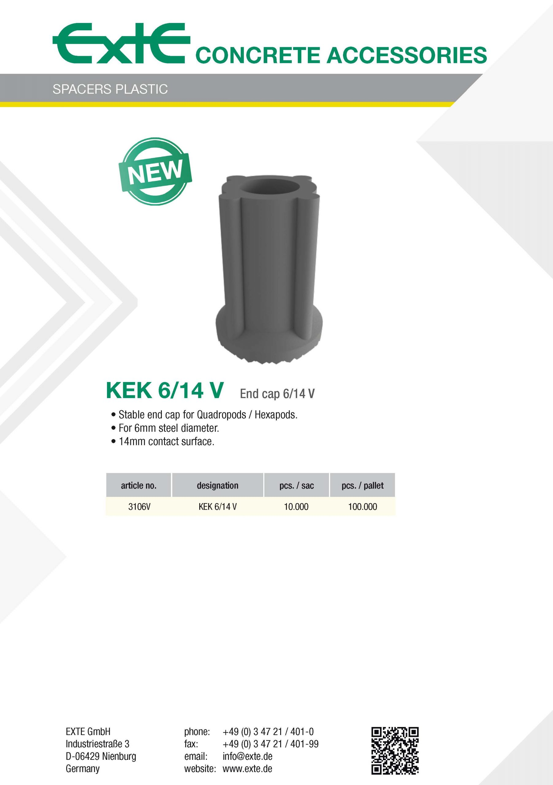 product sheet A4 - plastic - KEK6_14V - en