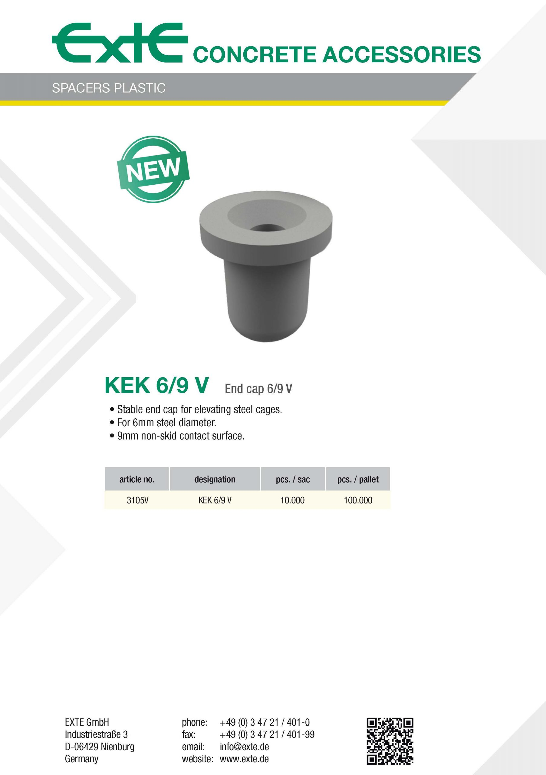 product sheet A4 - plastic - KEK6_9V - en