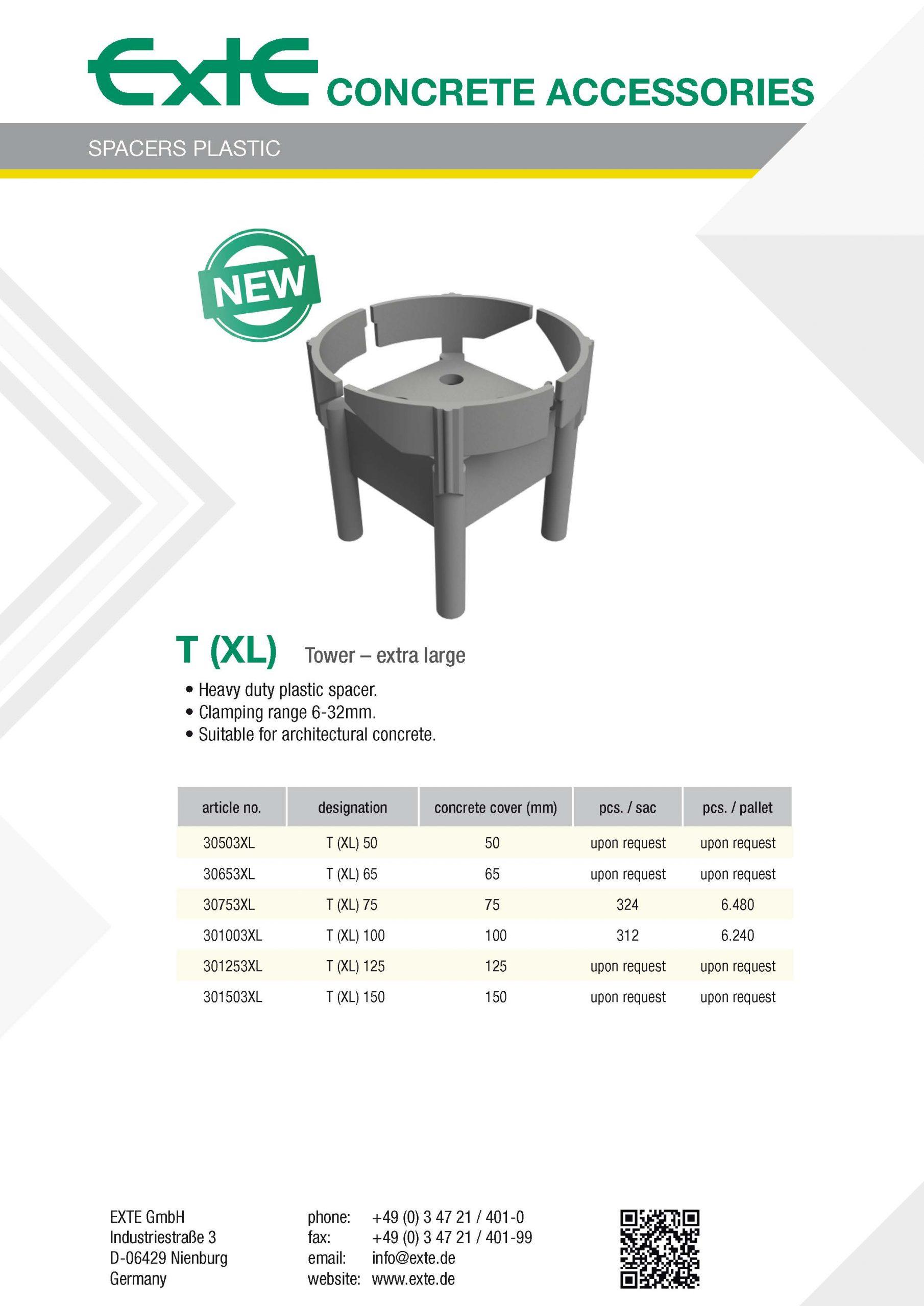 product sheet A4 - plastic - T (XL) - en