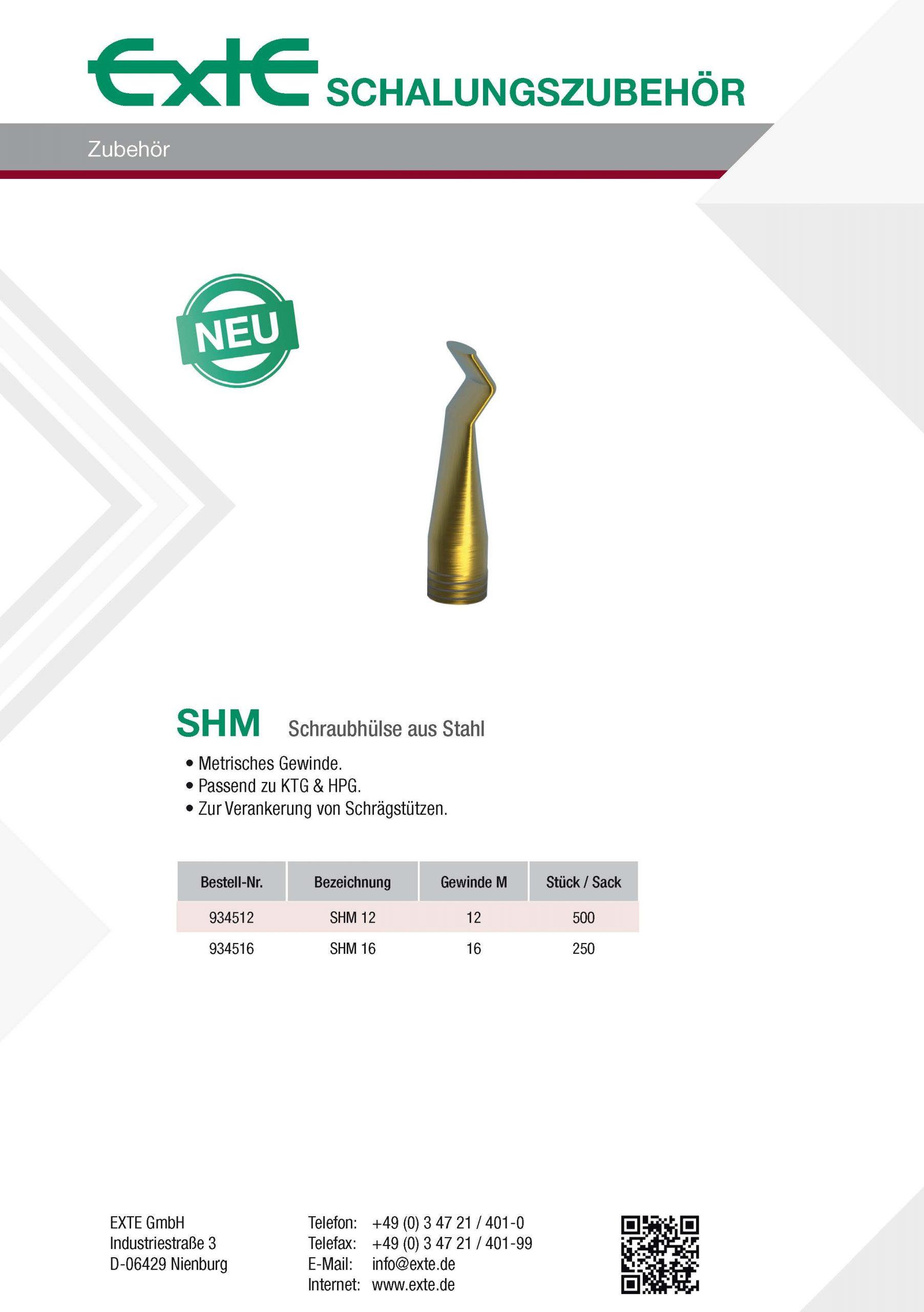 Produktblatt A4 - SHM - dt