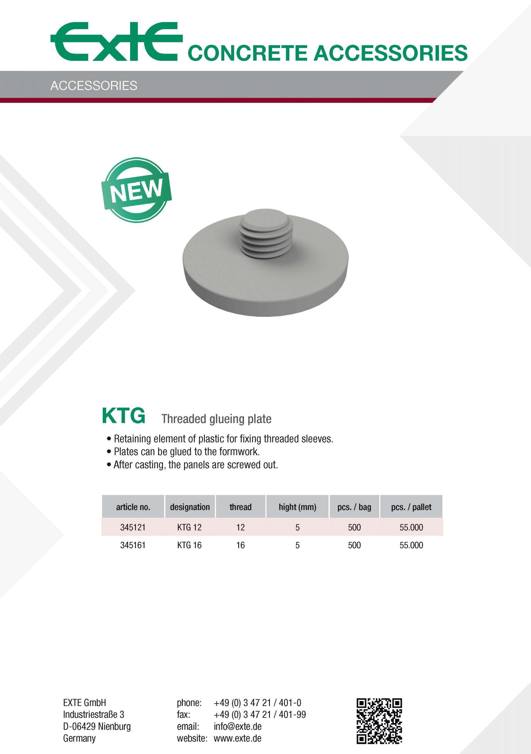 product sheet A4 - KTG - en