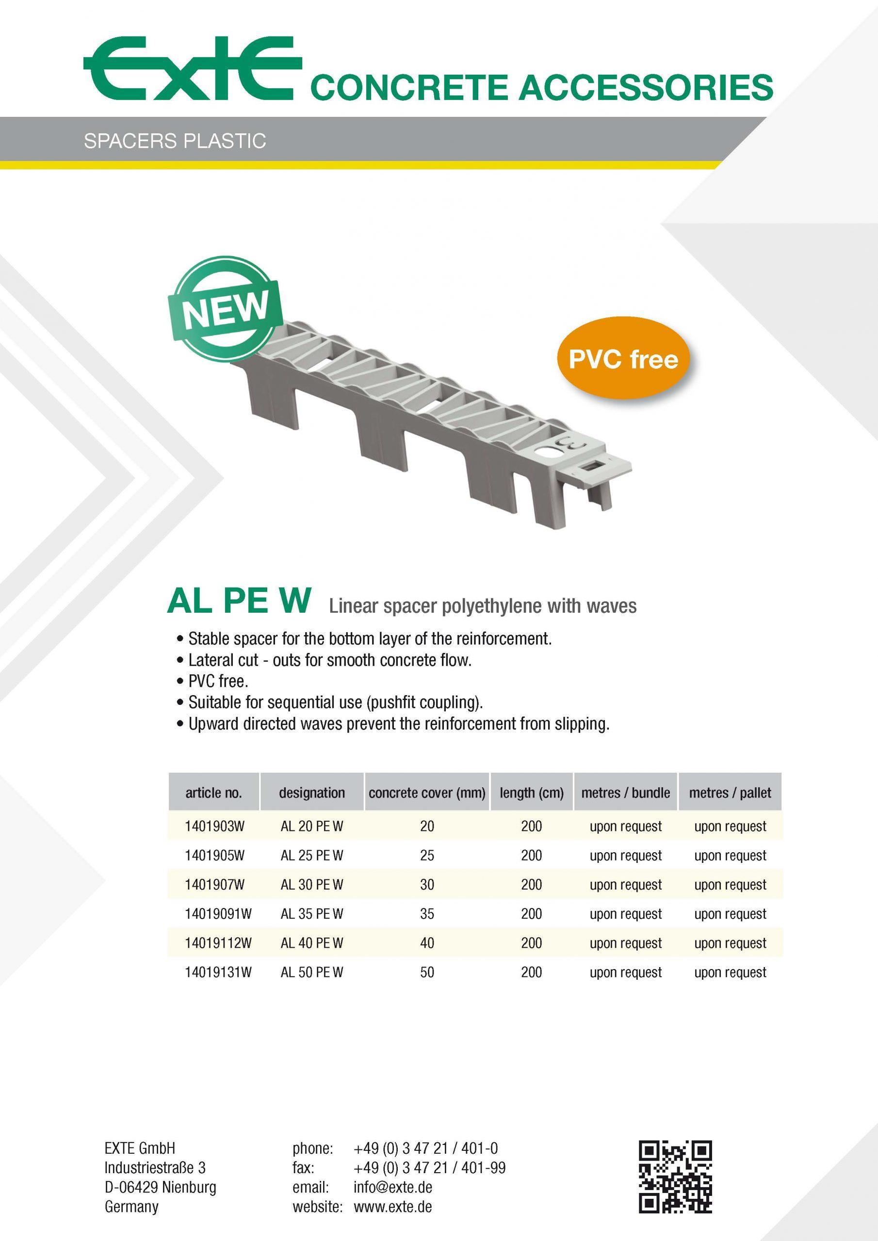 Produktblatt A4 - AL PE W - en
