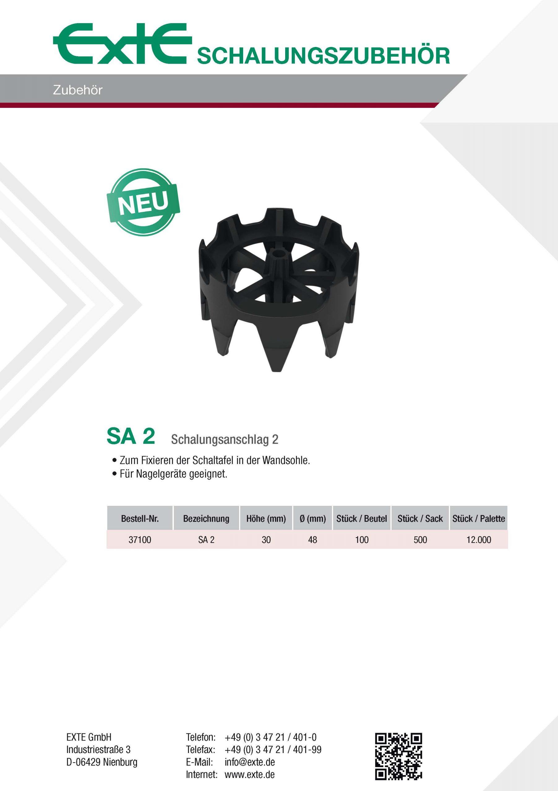 Produktblatt A4 - SA2 - dt