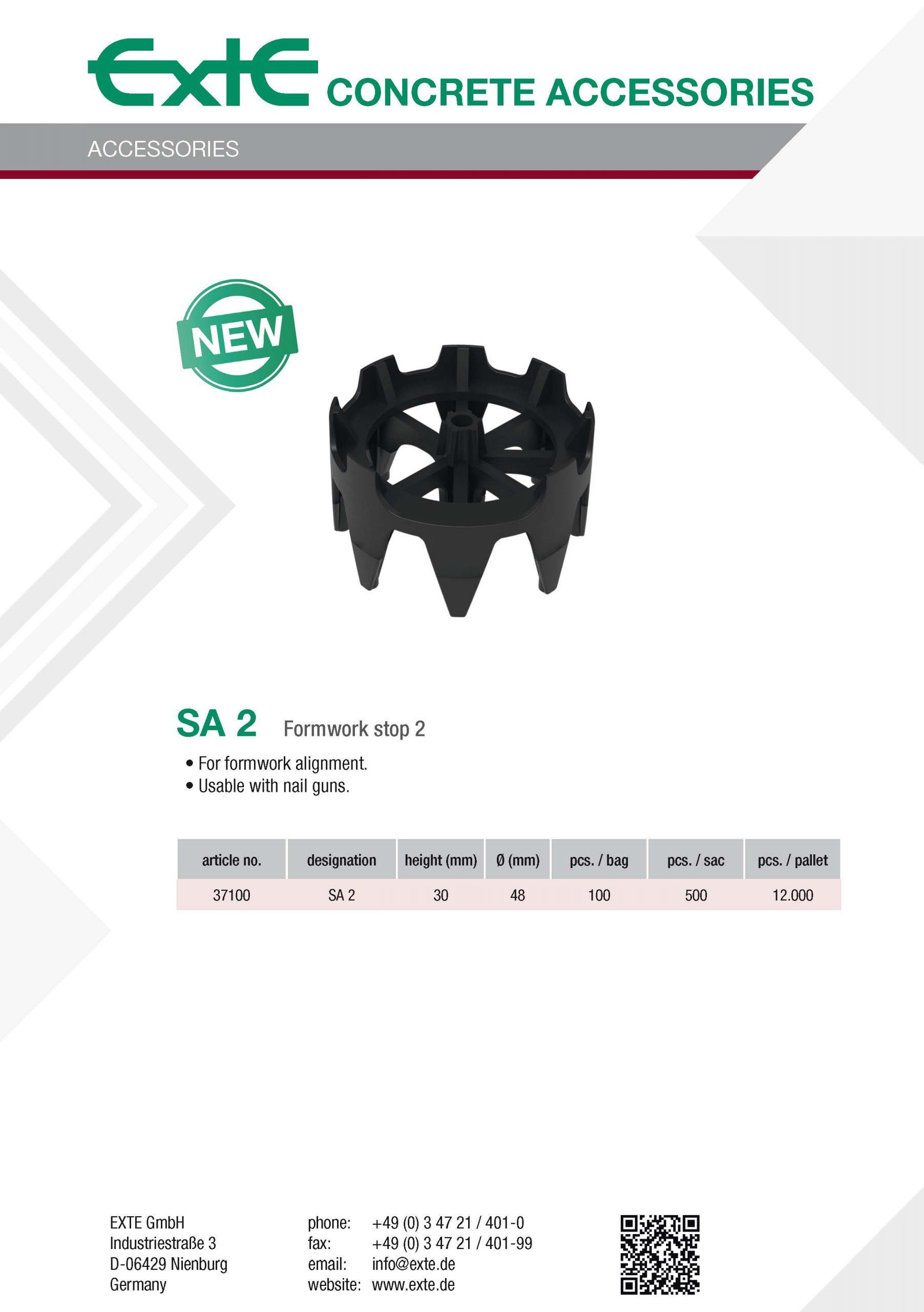 product sheet A4 - SA2 - en
