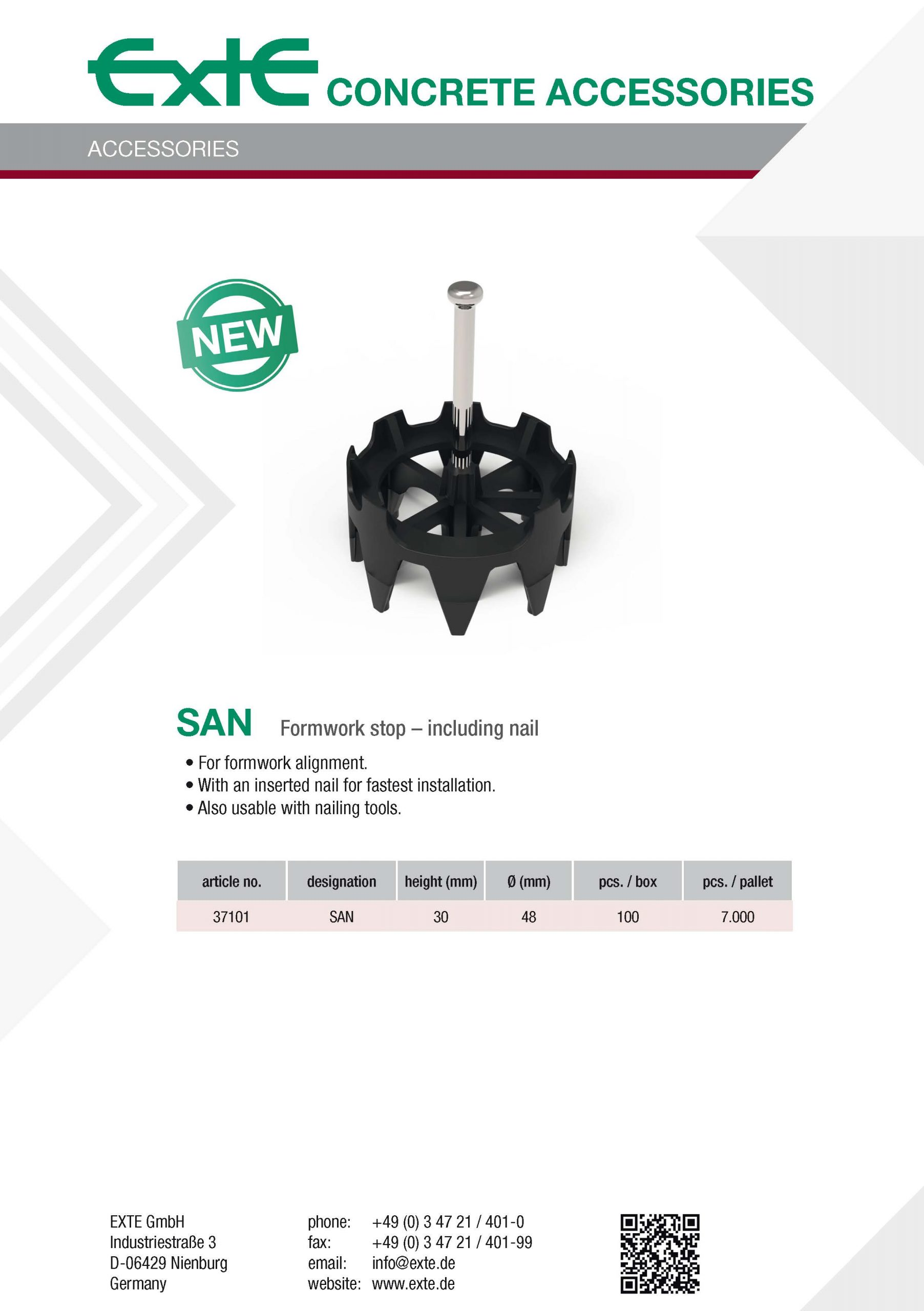 product sheet A4 - SAN new - en