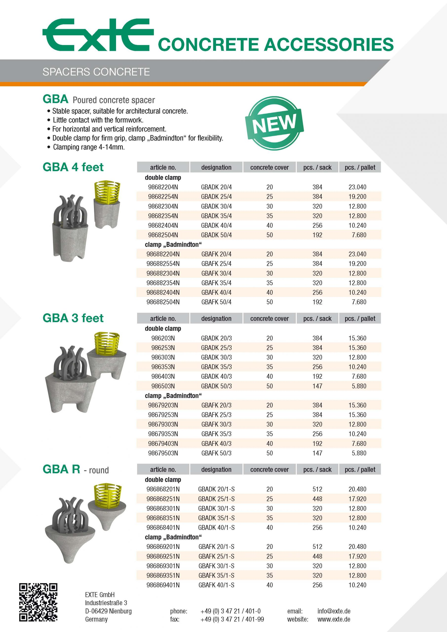 product sheet A4 - GBA - en